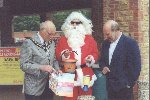 "YDR + Vale Motors raise cash for GMTV's ""Get up and give"" week.  5th - 7th July 2000  Who said Santa came but once a year!"