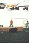 "Yeovil showground, the YDR live fun entertainment stage at the ""GIANTS"" event.  23rd July  Young Britney pulls in the crowds"