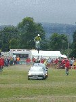 The Flying Gunners demonstrate their way of beating traffic jams !!!  Yeovil Festival of Transport 2001, 11-Aug-2001.