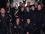 The YDR FM team just before the procession begins.  Yeovil Carnival 2001, 03-Nov-2001