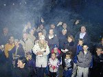 Do not adjust your monitor! - it was rather smokey, thanks to our smoke machine!  If you spot yourself, drop us an e-mail, tell us who you are and where you are in the photo and we'll mention you here!  Yeovil Carnival 2001, 03-Nov-2001