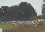 Still racing.  Yeovil Traders' Charity Grasstrack - Yeovil Showground, 28-Oct-2001