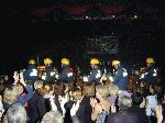 Westland Helicopters fire crew make their entrance.  Children In Need - Westland Sports & Social Complex, 16-Nov-2001