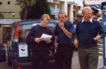 Lib Dem PPC David Laws and Paddy Ashdown enjoy the roadshow