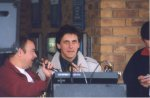 Paul B and Joe Lanfransci director of YDR FM braves the Tesco Roadshow