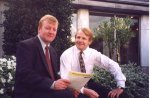 Charles Kenedy joins David Laws for the day suring the April broadcast.