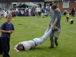The YDR FM entry in the wheelbarrow race (apparently it handles like a shopping trolley !!!)...  Where's y'er wheel chaps ???