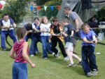 The kids entry in the tug-of-war.