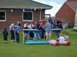 The kids get down to some serious jousting...